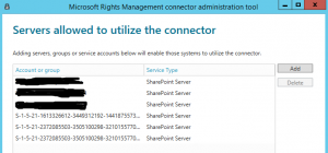 Microsoft SharePoint Information Rights Management Connector