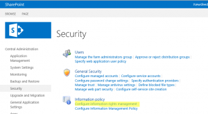 Microsoft SharePoint Information Rights Management Administration