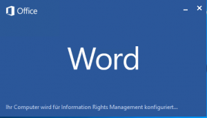 Microsoft Word Information Rights Management