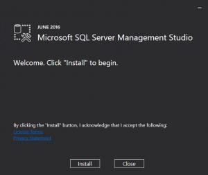 Microsoft SQL Server Management Studio Install