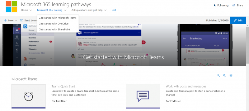 Microsoft 365 learning pathways